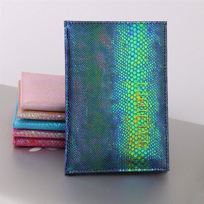 Funda de pasaporte con purpurina colorida porta pasaporte impermeable funda de viaje porta pasaporte paquete regalos
