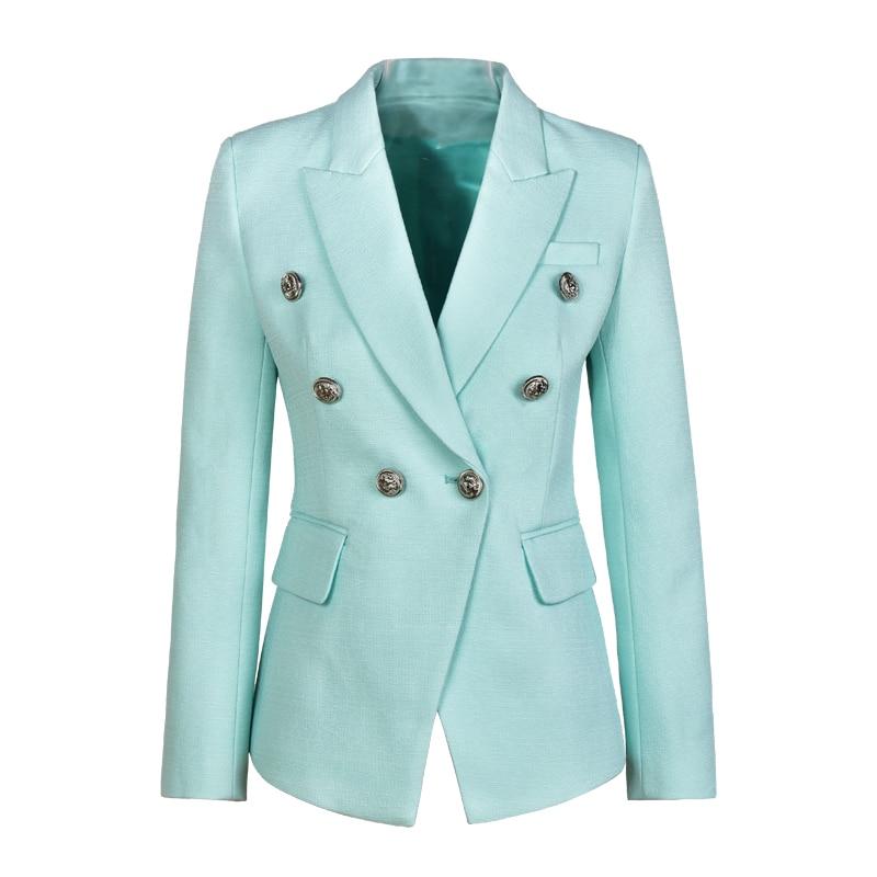 Unique Design Elegant Women Size S-XXL Solid Color Black White Mint Slim OL Formal Blazer Runway Autumn Fashion Blazers