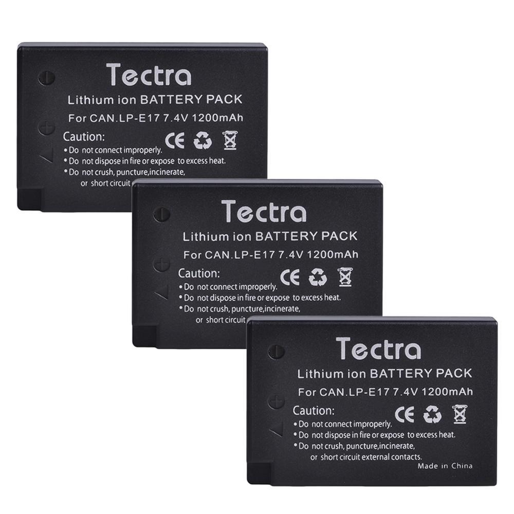 3pack 1200mAh LP-E17 LP E17 LPE17 de batería de la Cámara batería...