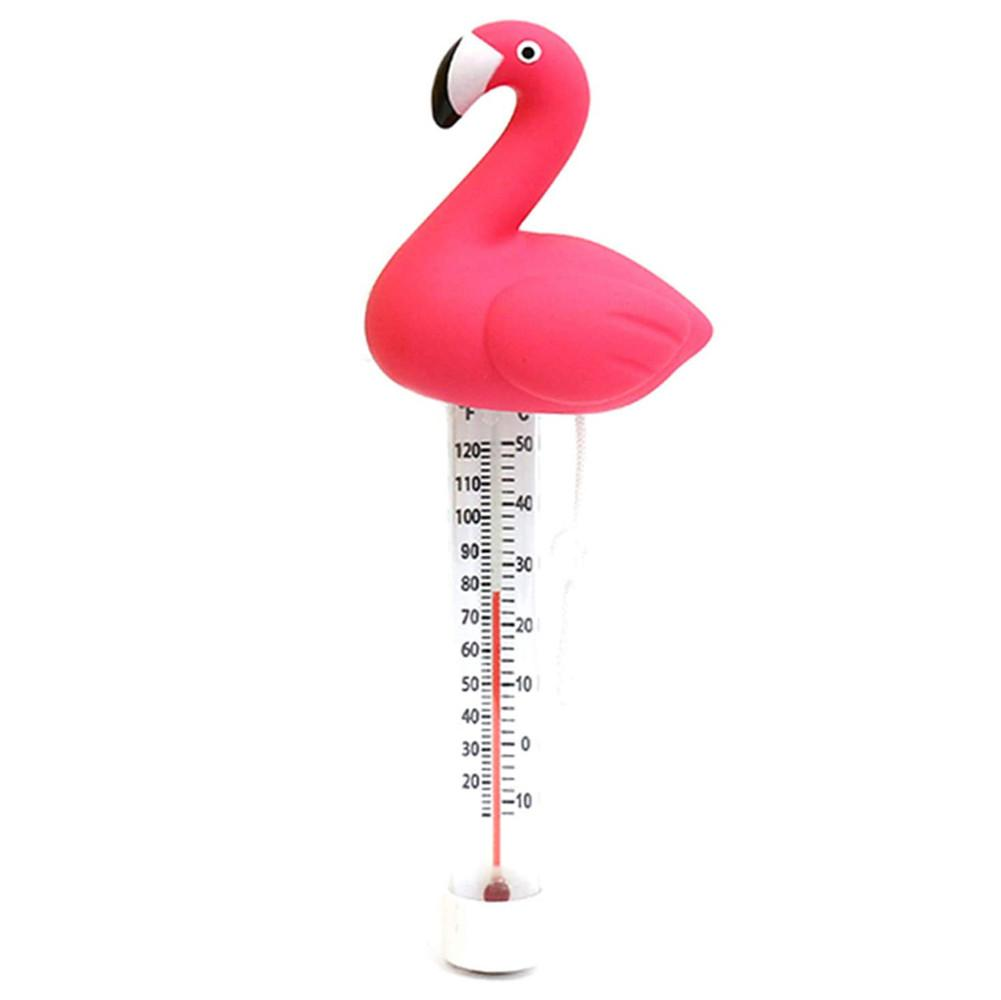 Термометр для воды Фламинго плавающий долговечный бассейн термометр Лебединое озеро Температура монитор