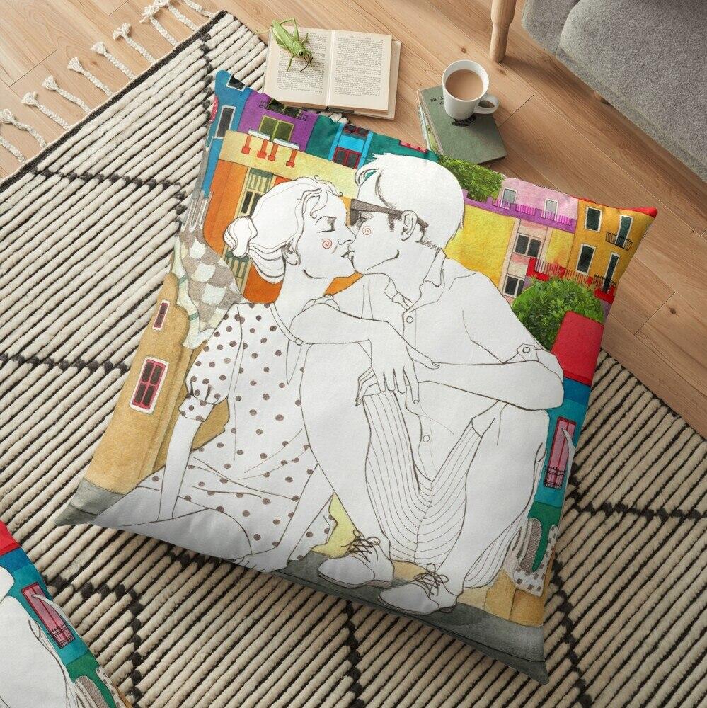 Cojín decorativo de corazón impreso de Barcelona, funda de almohada, decoración de...