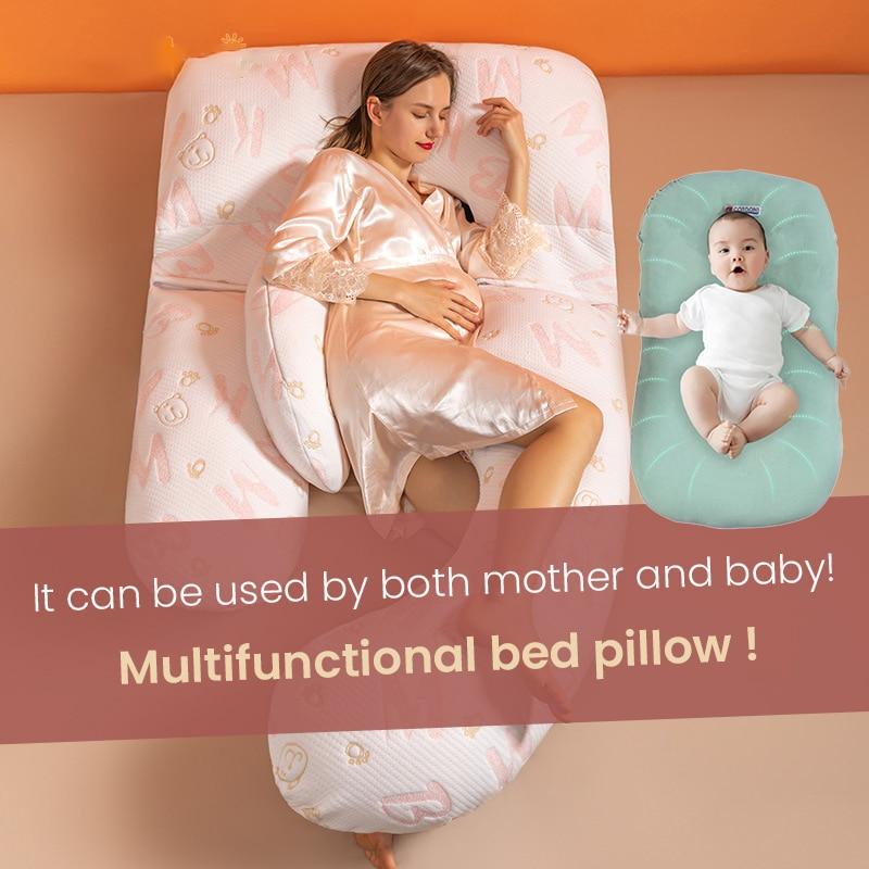 Pregnancy Pillow Maternity Sleeping Support Pillows Cotton U Shaped Pregnant Cushion Women Breastfeeding Side Sleep Nursing enlarge