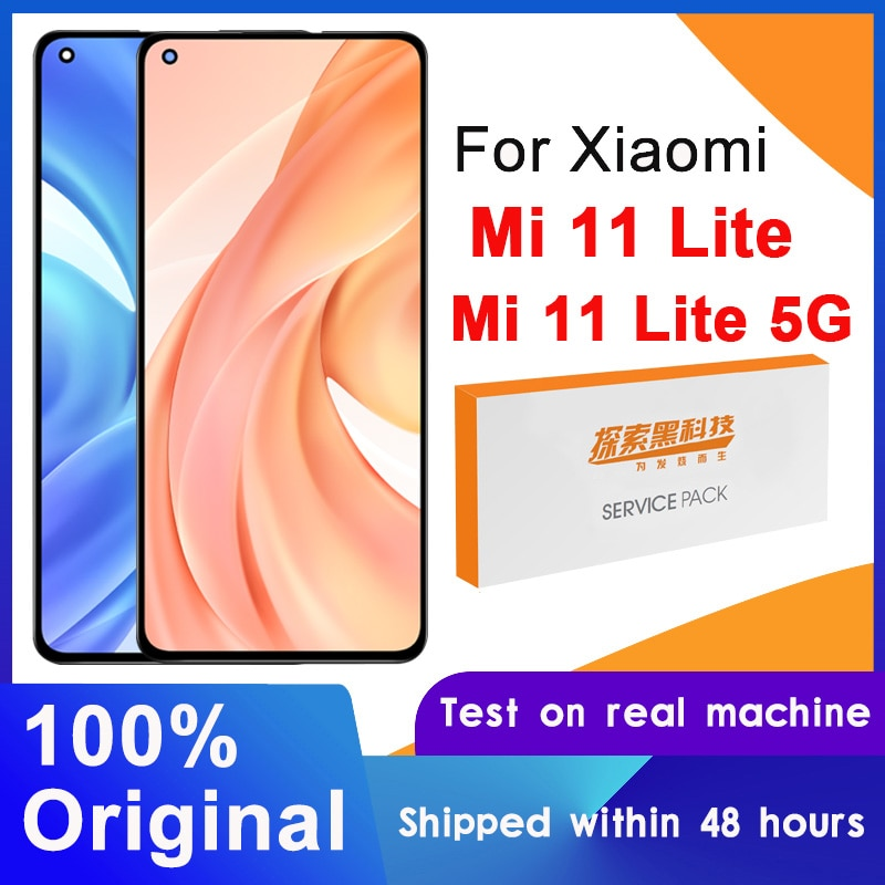 100% Original 6.26'' AMOLED Display For Xiaomi Mi 11 Lite M2101K9AG LCD Touch Screen Digitizer Assembly For Xiaomi Mi 11 Lite 5G