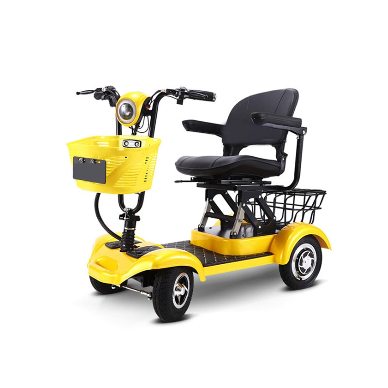 Elderly Electric Four-wheeler Disabled Electric Four-wheeler 43 120 Positive Xuan Wave Brushless Toothless 35 Red , Yellow 600