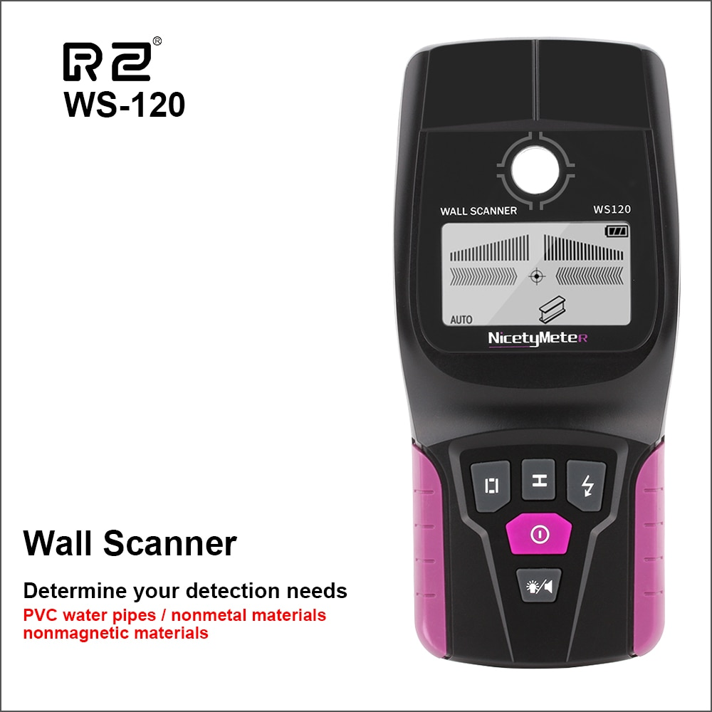 RZ-escáner de pared Digital, Detector de pared profesional, multifunción, Cable en vivo,...
