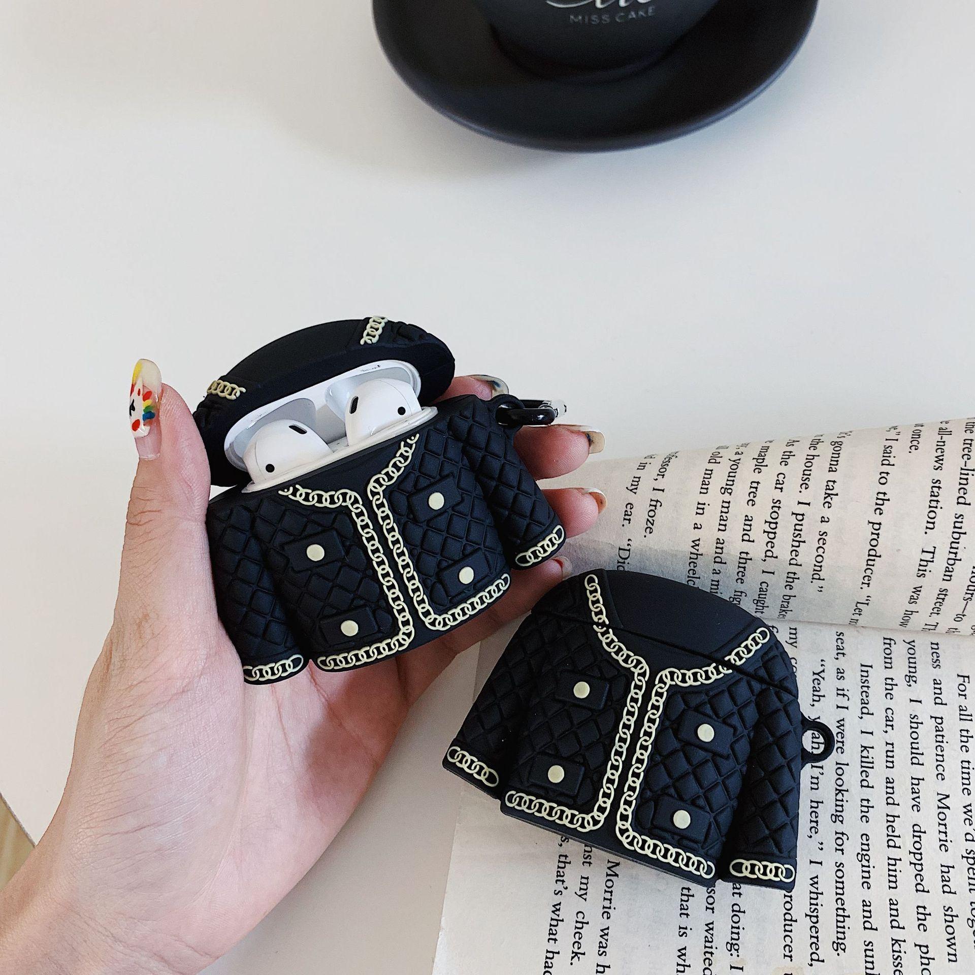 Lujosas Fundas protectoras de silicona para auriculares, fundas para Apple Airpods 1/2