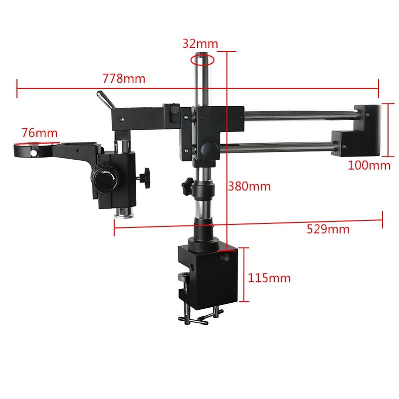 Soporte de brazo de dos brazos para Binocular/ Trinocular Zoom estéreo, Microscopio...