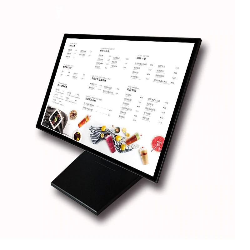 Counter TV Style Edge Lit LED Advertising Lightbox Display for Cafe,Hotel ,Restaurant
