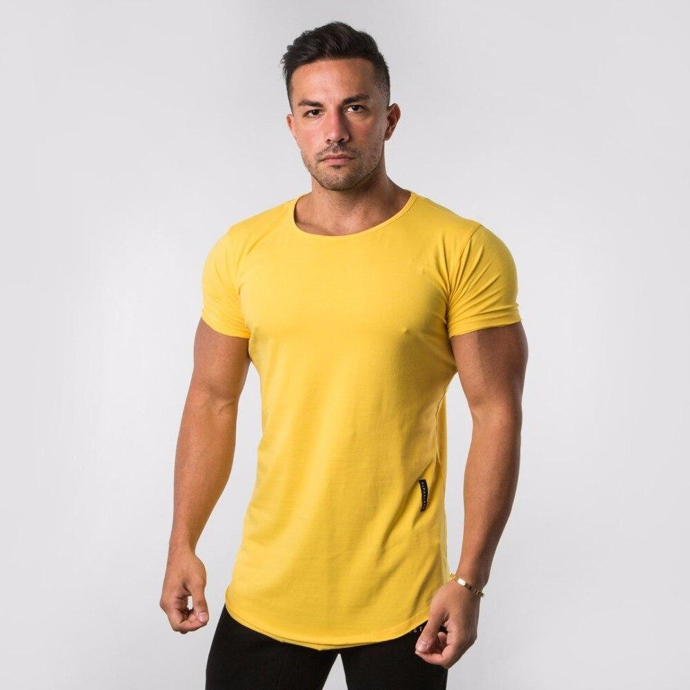 2020 Camisa de algodón a la moda de verano para hombres ropa informal de calle negra blanca cuello redondo manga corta Lisa ropa de camiseta ajustada