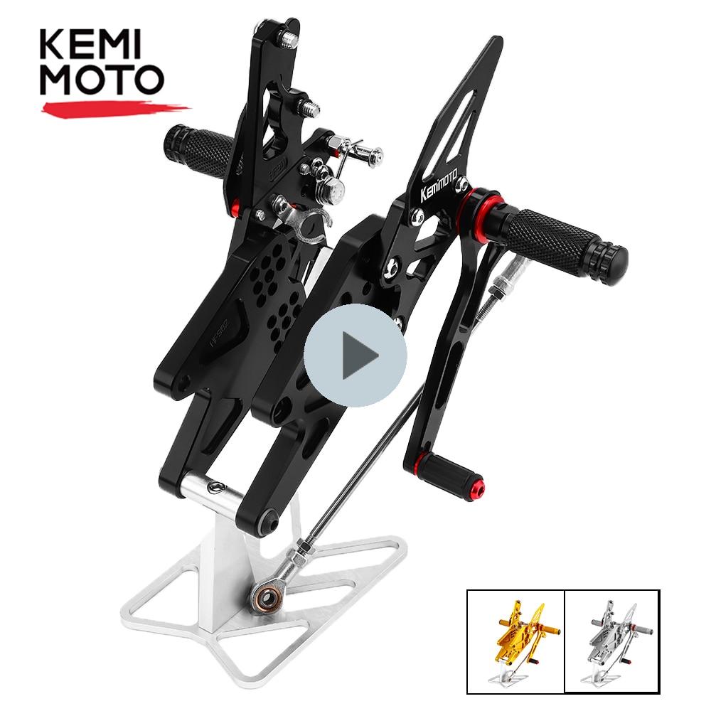 KEMiMOTO MT 03 MT 25 MT03 MT25 CNC регулируемый задний комплект Rearsets подставка для ног Yamaha YZF R25 R3 MT-03 MT-25 2014-2020