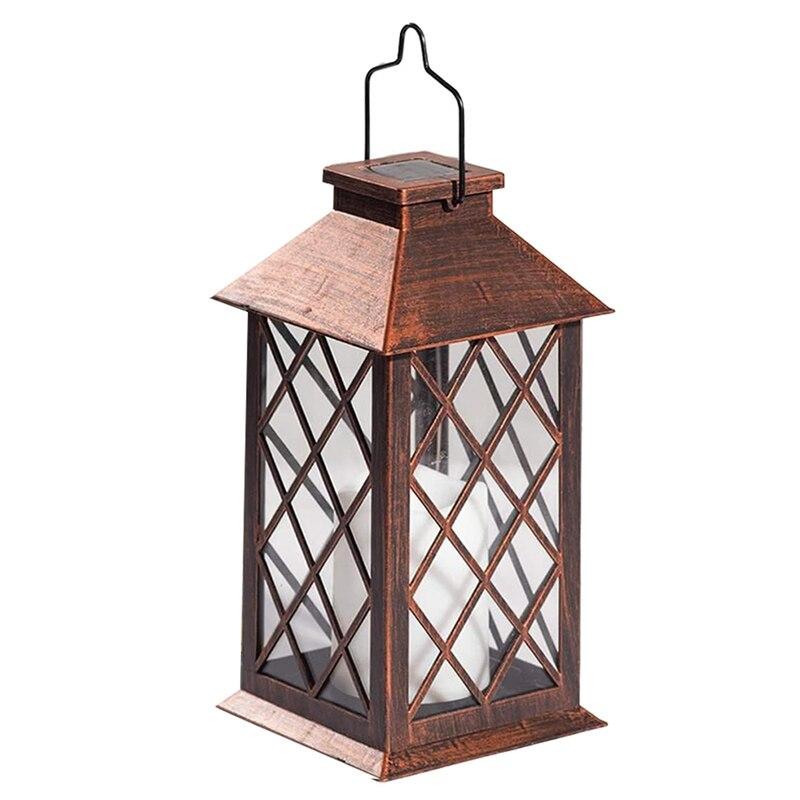 Linterna Solar, farol colgante para jardín al aire libre, luces LED parpadeantes sin llama para mesa, exterior, decoración para fiestas