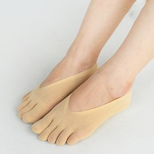 Orthopedic Compression Socks Women's Toe Socks Ultra Low Cut Liner with Gel Tab Breathable Socks FIF