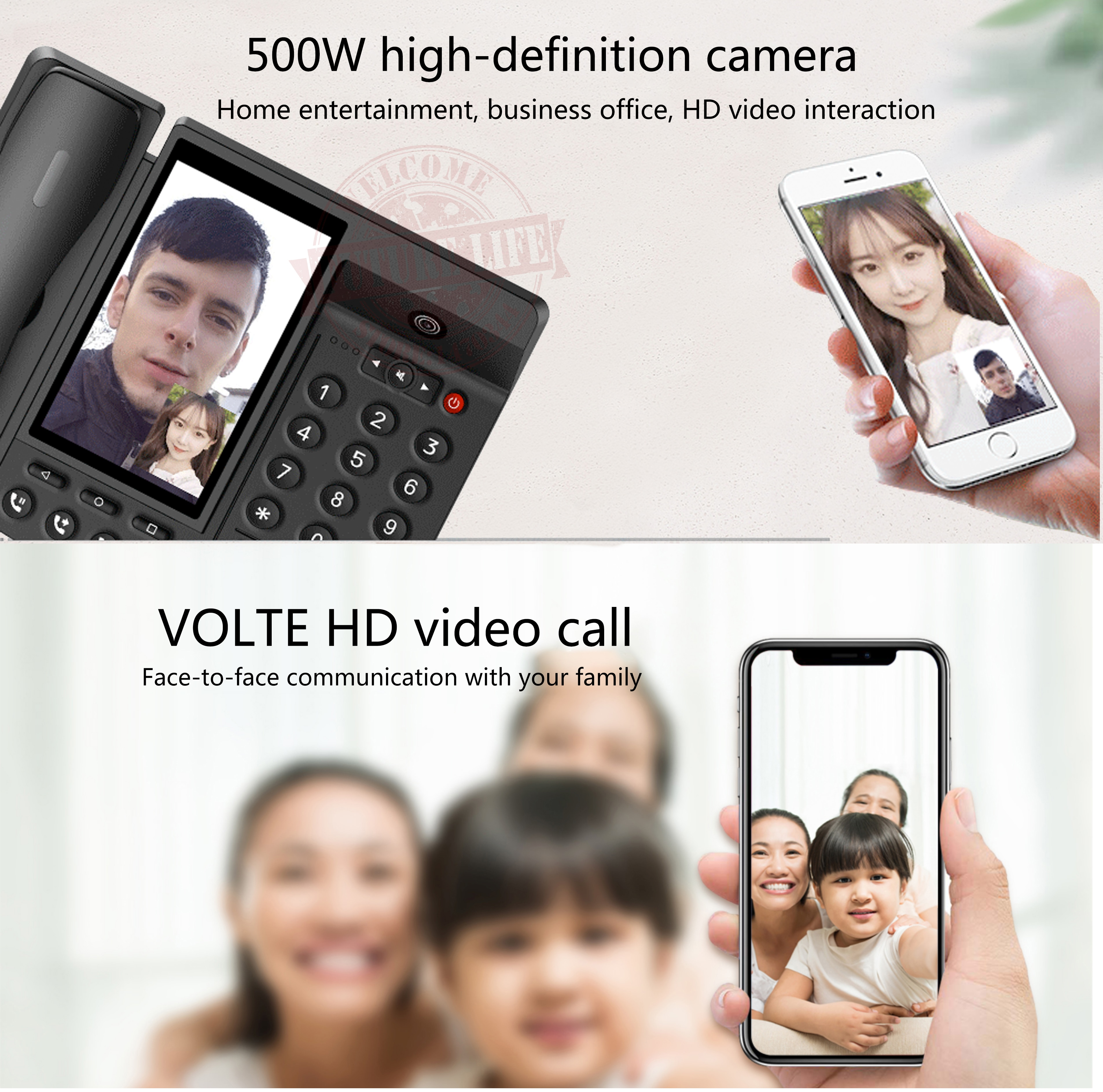 Smart LTE 4G Fixed Wireless landline Android 7.0 with 4G SIM network videophone glob universal elderly WIFI video mobile phone