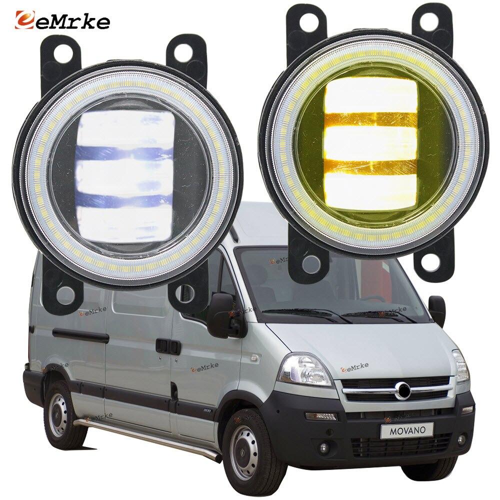 مصابيح ضباب Led لـ Opel Vauxhall Movano ، مصابيح أمامية لـ FL 01/2004-2009 2010 ، 2X