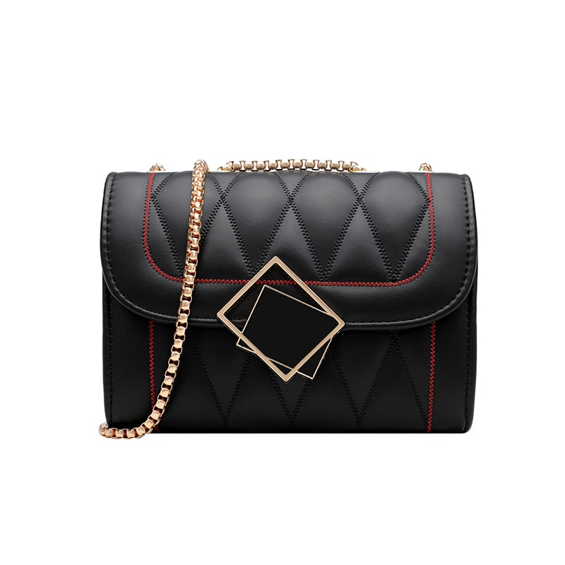 Top Brand Luxury Shoulder Bag Black Diamond Lattice Chain Totes Ladies Casual Bags Women Fashion Mes
