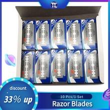 10 Pcs ST300 Stainless Steel Shaver Blades Men Double Edge Razor Sharp Thin Blade Face Care