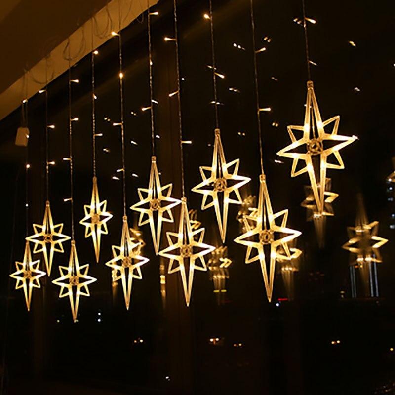 220V Polaris Lamp Led String Lights Christmas Decorations for Home Room Curtains Fairy Garland Navidad Natal Decor New Year 2021