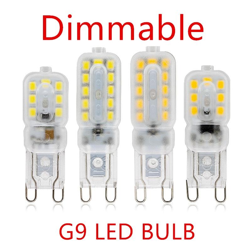 10PCS LED Bulb 3W 5W G9 Light Bulb Dimmable AC 220V LED Lamp SMD2835 Spotlight Chandelier Lighting Replace 20w 30w Halogen Lamp