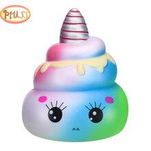 Anti-stress-Spielzeug 14,5 cm Squishy Weichen Kawaii Einhorn Poo Langsam Rising Entzückende Brot Duftenden Squeeze Entlasten Stress Spielzeug