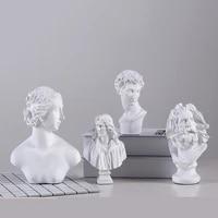 miniature resin david venus figurine artificial statue head sculpture bedroom desk home office interior decor souvenir ornaments