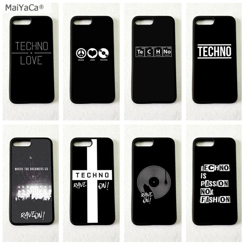 Techno telefono música borde suave del teléfono móvil casos para iPhone 11 pro max 5S se 6 6s 7 7 plus X XR XS MAX caso de la cubierta