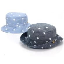 Cotton Baby Toddler Sun Cap For Kids Summer Bucket Caps Casquette Unisex Boys Girls  Adjustable Denim Hat Soft Tractor Cap