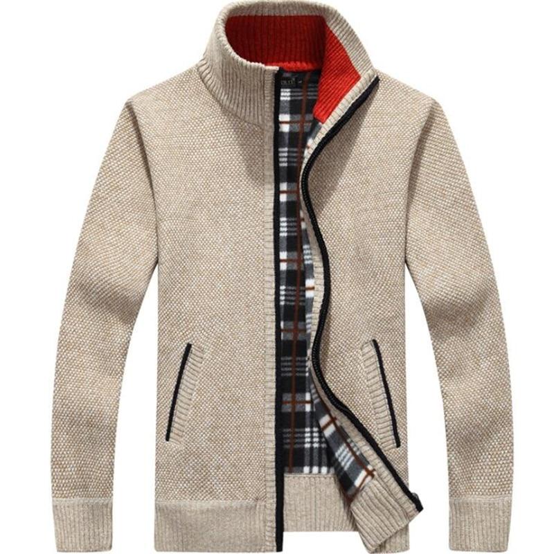 Chaqueta de lana de Cachemira para hombre de chaqueta de lana de...