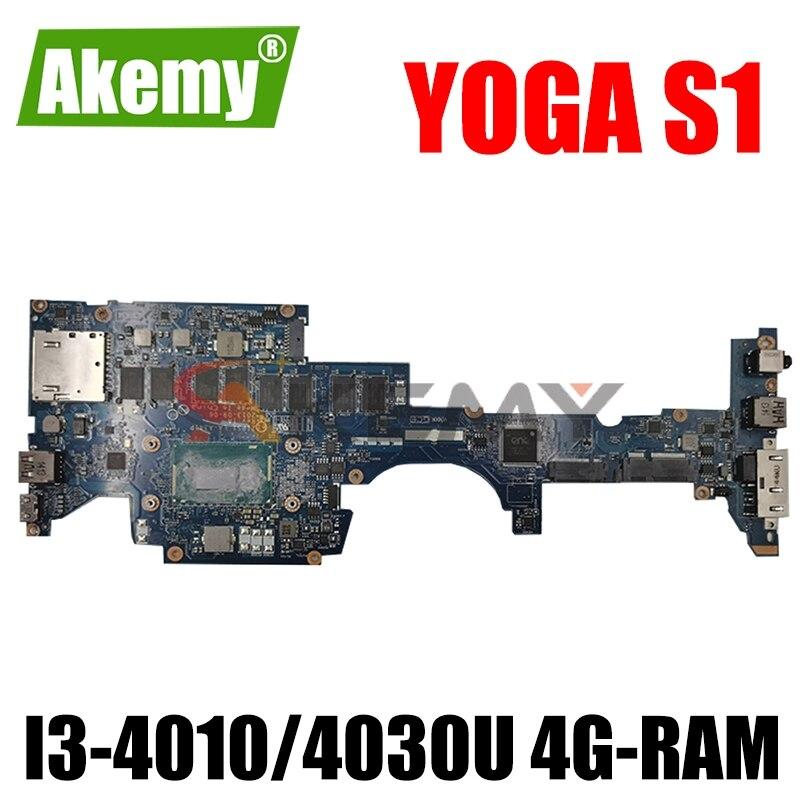 Zip S1 LA-A341P لينوفو ثينك باد اليوغا S1 اللوحة الأم للكمبيوتر المحمول مع وحدة المعالجة المركزية I3-4010/4030U 4G-RAM اللوحة الرئيسية الأصلية 100% اختبارها با...