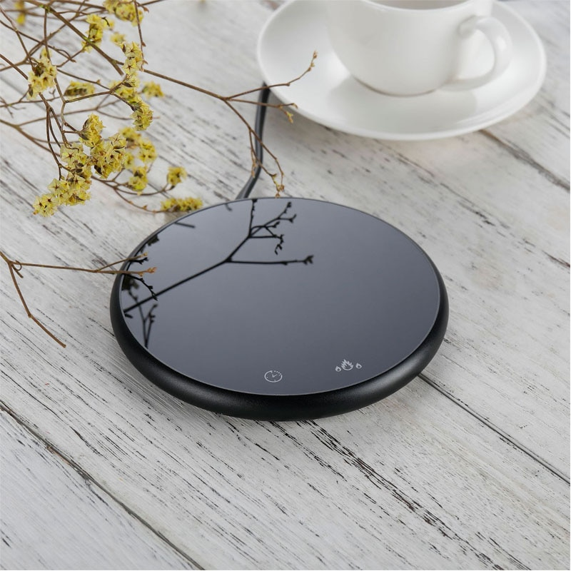Mini Smart Coaster Cup Electric Heater Coffee Mug Water Bottle Warmer for Home Office with Timer 2 T