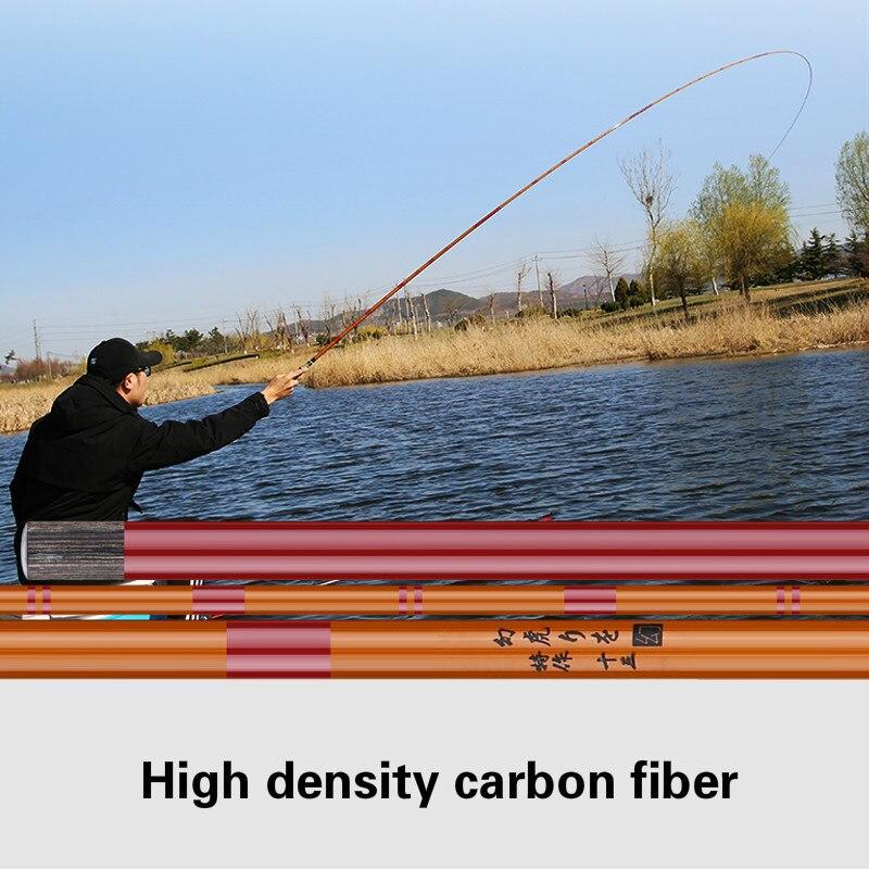 2.7m-5.7m 28 Tone Carp Fishing Rod High Carbon Fiber Telescopic Wedkarstwo Olta Super Light Super Hard Hand Pole Vara De Pesca enlarge