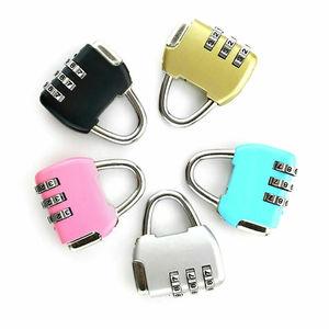 Cute High Quality Travel Luggage Padlock Mini 3 Digit Combination Suitcase Security Cable Lock Sport Locker Bag(Random Color)