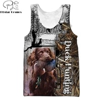 animal duckdeer hunting 3d printed men vest harajuku fashion sleeveless t shirt summer streetwear cool unisex tank top bx016