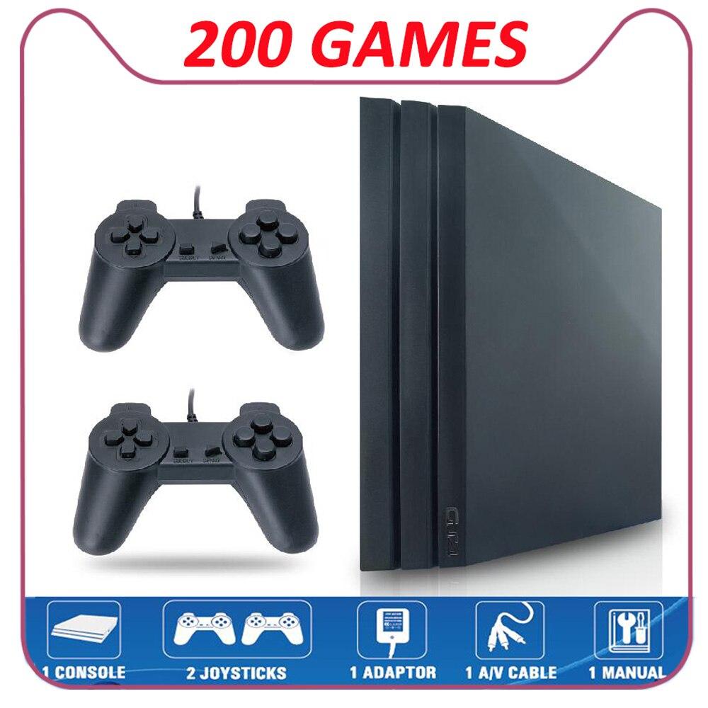 Para nintendo tv vídeo game console nostálgico 8-bit gs4 pro embutido 200 jogo av saída caixas de suporte