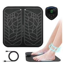 Sans fil électrique EMS masseur de pieds ABS physiothérapie corps masseur pied Abs stimulateur Muscle Toner masseur électrique Vibration