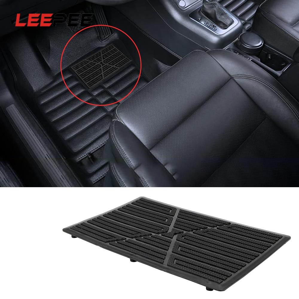 LEEPEE 25x16cm Pedal antideslizante negro PVC alfombrilla de coche tapete de talón cubierta de Pedal Universal almohadilla de suelo de coche accesorios de coche