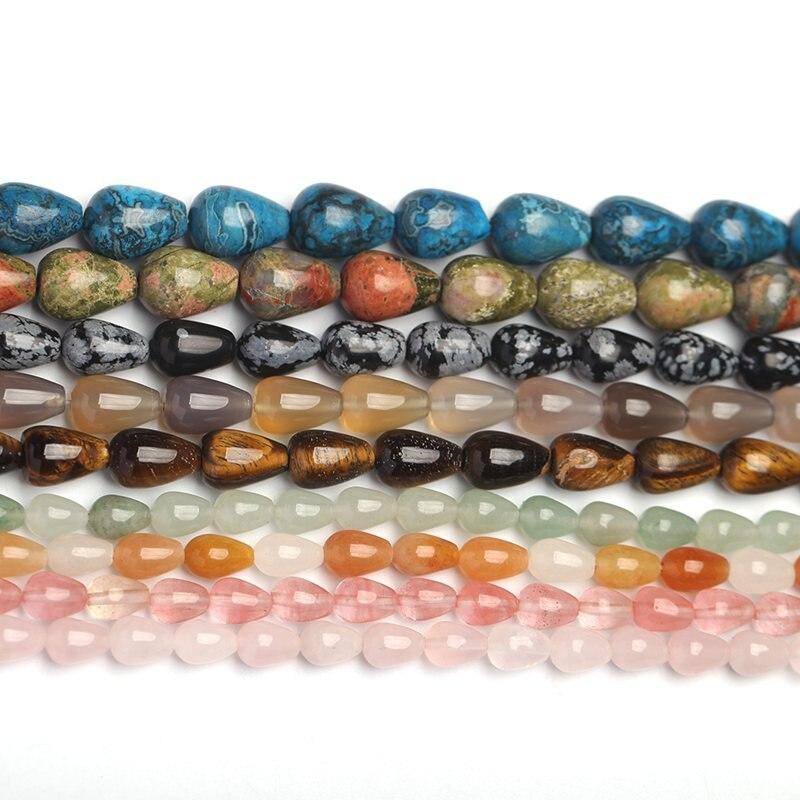Alta Calidad 30 Material caída de piedra Natural collar pulsera joyería DIY gemas cuentas sueltas 15 pulgadas 6x 9/8x1 2/10x14mm wk3