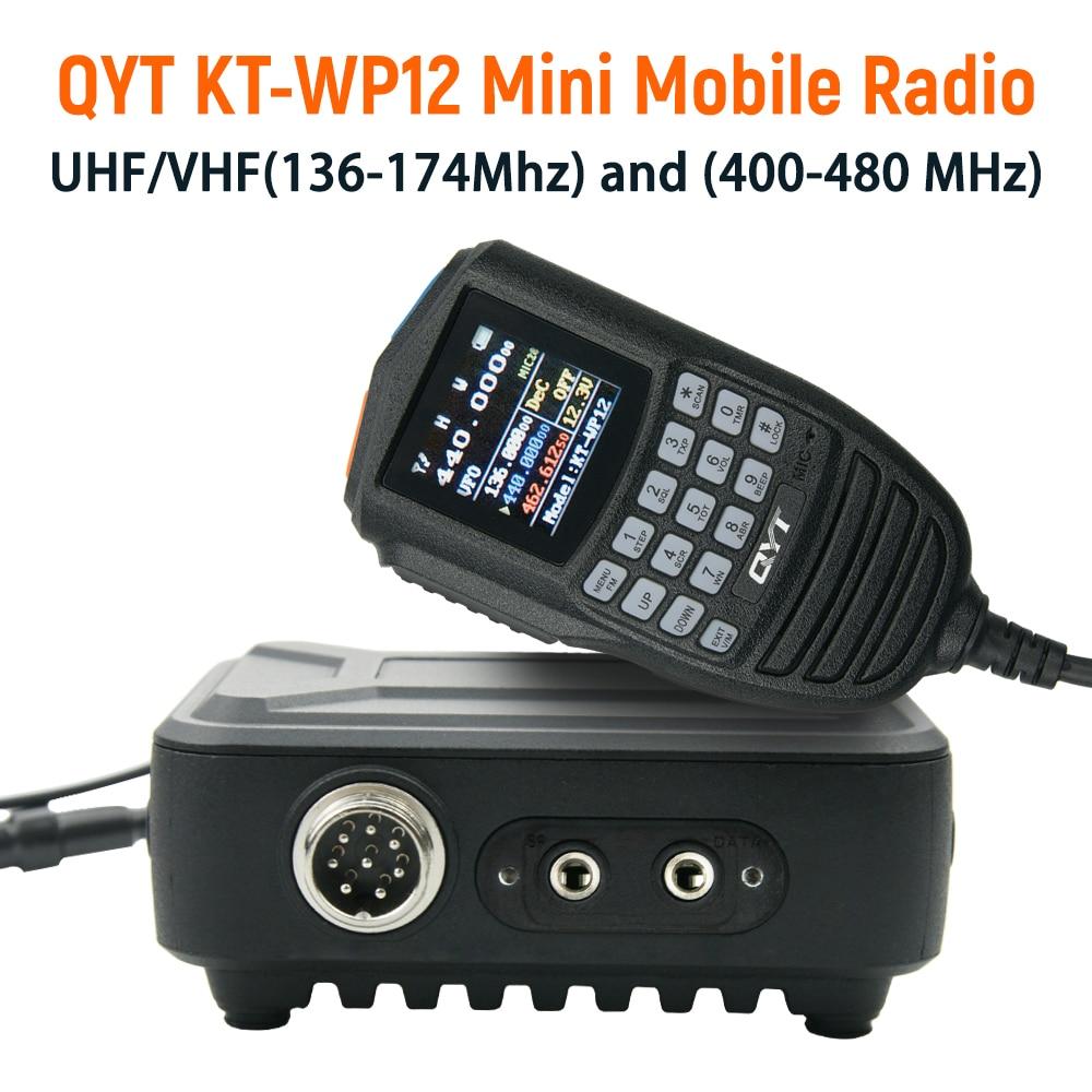 QTY جديد لاسلكي تخاطب KT-WP12 VHF 25 واط UHF20W المزدوج الفرقة VOX تشويش إذاعي اليد ميكروفون التحكم هام راديو صغير المحمول