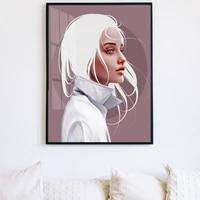 Nordique figure peinture a lhuile blanc cheveux modele mode art toile peinture salon couloir bureau decoration murale