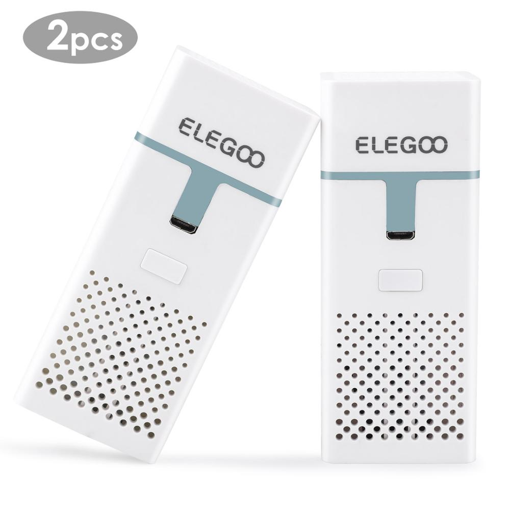 ELEGOO 2pcs Mini Air Purifier Set with Activated Carbon Filter and Universal Adaptor for LCD,DLP,MSLA Resin 3D Printer
