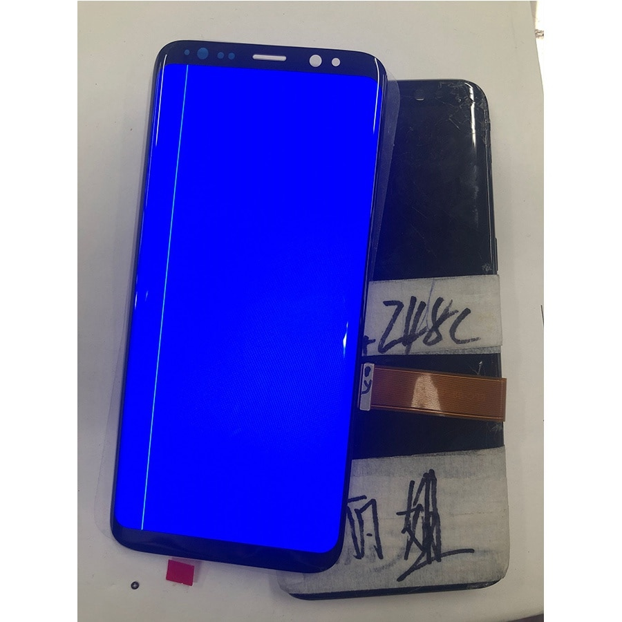Points Line AMOLED Screen For Samsung Galaxy S8 S8+ G950A G950U G950F S8 Plus G955 G955F LCD S9 Display Touch Screen Digitizer enlarge