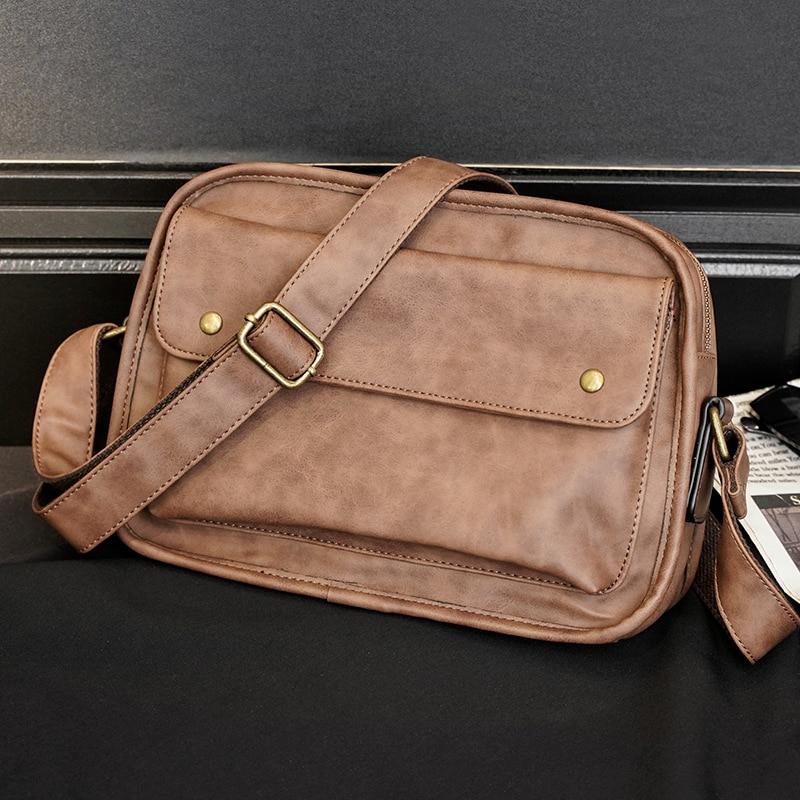 Messenger Bags 2021 Newest Bolsas De Honbro Vintage Mens Cross Body Bag Small Sholder Side For Men Leather Brown Sling