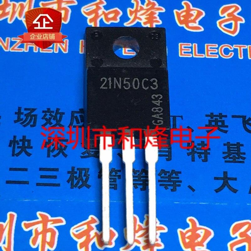 10PCS 21N50C3 SPA21N50C3 TO-220F 560V 21A 100% Neue & original