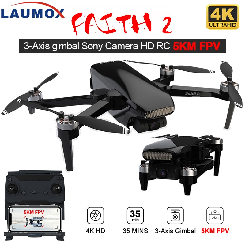 LAUMOX Faith 2 Drone 4K GPS HD Camera 3-Axis Gimbal Quadcopter Professional 35min Flight RC 5KM SG906 PRO 2 X8SE F11 4K PRO
