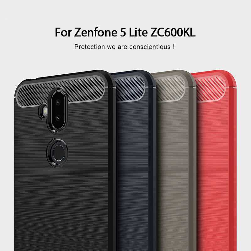 "Mokoemi silicona suave a prueba de golpes 6,0 ""para Asus Zenfone 5 Lite ZC600KL funda para Asus Zenfone 5 Lite funda para teléfono"