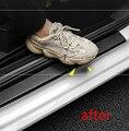 3D наклейка на автомобиль из углеродного волокна, защитная полоса «сделай сам» для наклейки на порог автомобиля, боковое зеркало, лента против царапин, водонепроницаемая защитная пленка