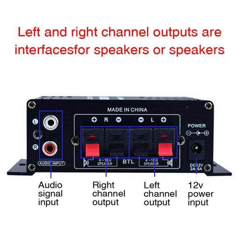 200W HIFI Power Digital Stereo Power Amplifier Car Home Theater Digital Power Audio  For Speaker Bass Control enlarge