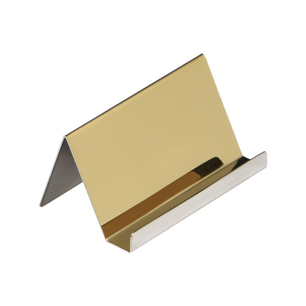 Держатель для визиток из нержавеющей стали, настольный органайзер для визиток и карточек