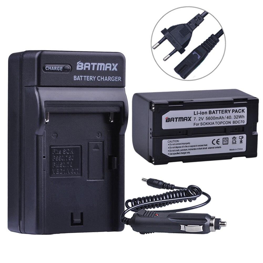 Batmax 1 قطعة 5600mAh BDC70 ليثيوم أيون البطارية + الجدار شاحن ل sokkia CX FX مجموع محطة توكبون ES OS مجموع محطة