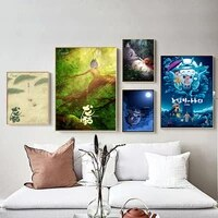 totoro anime nordic style poster prints canvas painting pictures on the wall art decorative home decor plakat