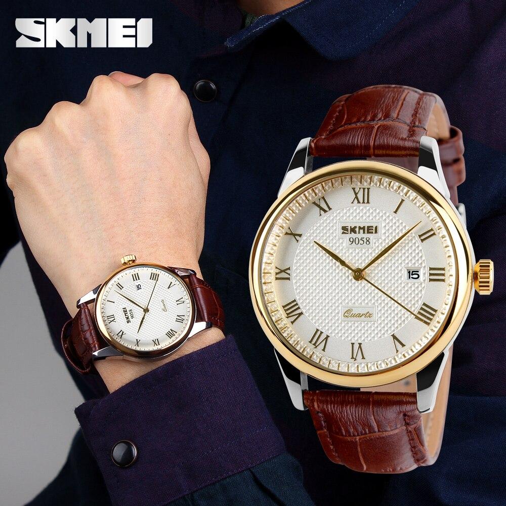 Relojes para hombre, relojes de lujo de primera marca, relojes de pulsera de cuarzo para negocios, relojes de pulsera impermeables para hombres, reloj Masculino